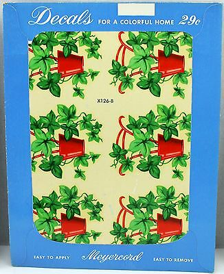 NOS 1950s Meyercord vintage GREEN IVY Decorating Transfer Decal 126-B