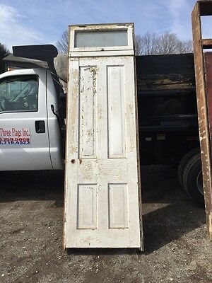 Six Antique Raised Panel Doors With Jams And Transom Windows