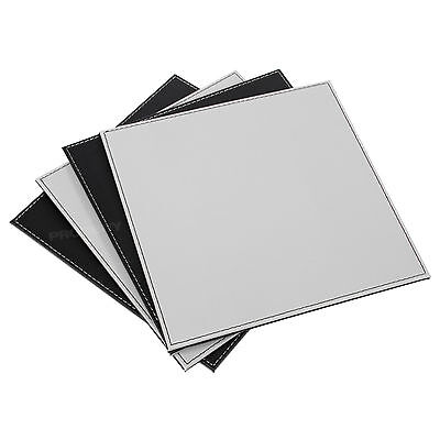 Set of 8 Black Grey Square Reversible Placemats Dining Table Place Settings Mats