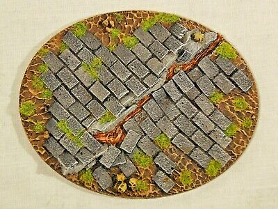 Paved Large Oval Scenic resin base 95x120mm painted x1