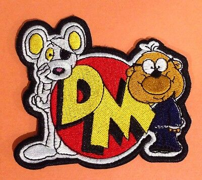 DANGER MOUSE & PENFOLD XL 4 INCH �� Sew Iron Patch 80's Costume  Cartoon Hero