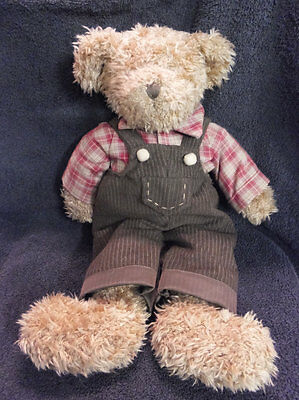 Avon Bear Collection's Plaid Shirt and Bloomers 15 inches Teddie Bear Avon