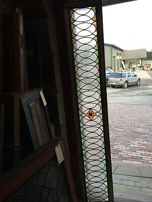 Sg 673 Antique 84 Inch Floral Transom Stainglass