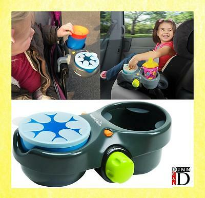 Car Seat Pushchair Bumper Bar Portable Travel Snack Tray Drinks Bottle Holder