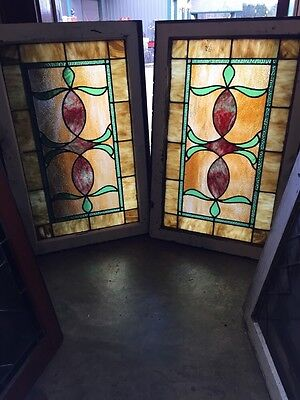 Sg 677 2 Available Priced Separate Antique Stainglass Windows