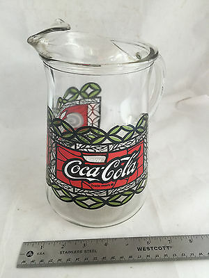 1980's Enjoy Coca-Cola Coke Heavy Glass Pitcher
