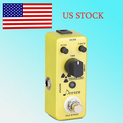 Donner Yellow Fall Delay Guitar Effect Pedal US Shipping