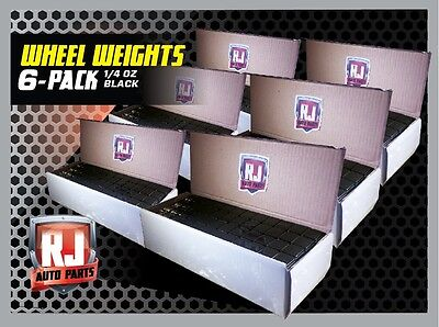 6 - Boxes Black Wheel Weights 1/4 Oz Stick On Adhesive Tape 864 OZ. 3456 Pieces