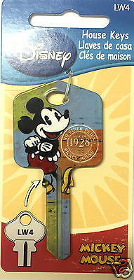 Vintage Mickey Mouse Disney Collectable Uncut House Key Blank