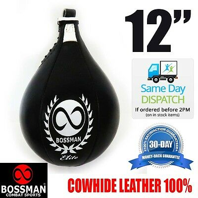 """BCS 12"""" large speed ball - boxing speedball  training leather fast"""