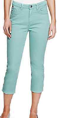 Ex M&S Ladies Skinny Jeans Women's Cropped Pants Mid Rise Size 8-24 Mark Spencer