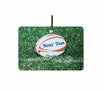 Personalised Rugby Ball Car Air Freshener