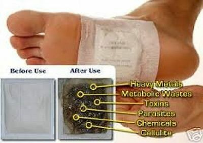 100 Detox Vitalpflaster Foot Patch Pad Energiepflaster Fusspflaster Entgiftung