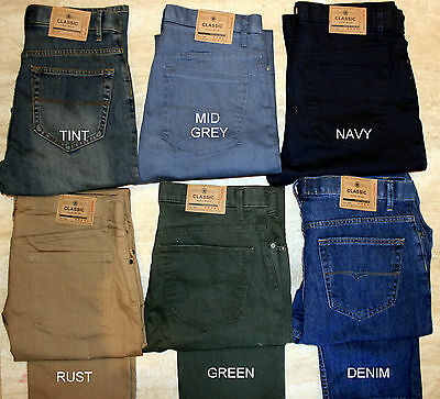 Ex M&S Men's Jeans Straight Leg Stretch Trousers Pants Regular Fit Marks Spencer