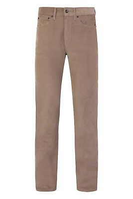 Ex M&S Men's Corduroy Cords Straight Cotton Trousers Pants Reg Fit Marks Spencer