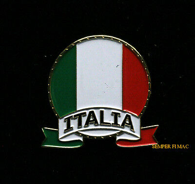 Italian Hat Lapel Vest Pin Up Tie Tac Italy Flag Gift Trade Souvenir Italia Wow