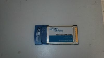 Carte pmcia wireless lan 2202 nortel networks 802.11 a/b/g mobil adapter tester