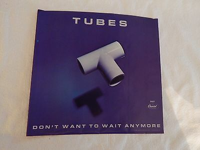 """Tubes """"Don't Want To Wait Anymore"""" PICTURE SLEEVE! NEW! MINT!!"""