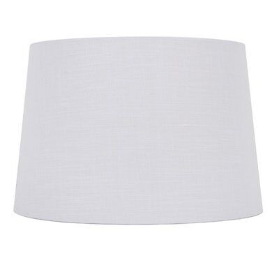 allen + roth SH2154 10-in x 15-in White Linen Fabric Drum Lamp Shade