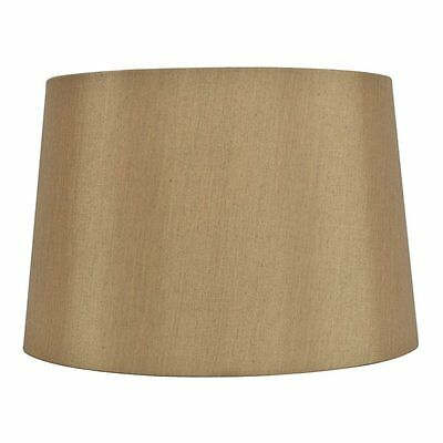 allen + roth SH2895 10-in x 15-in Gold Fabric Drum Lamp Shade