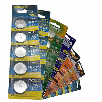 All Sizes of 3V Lithium Watch Remotes Button Coin Cells CMOS Batteries VapexTech