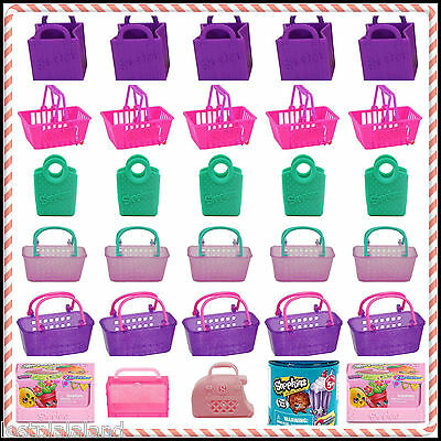**SALE** Shopkins Season 2,3,4 Empty Shopping Bags, Baskets & Containers - New