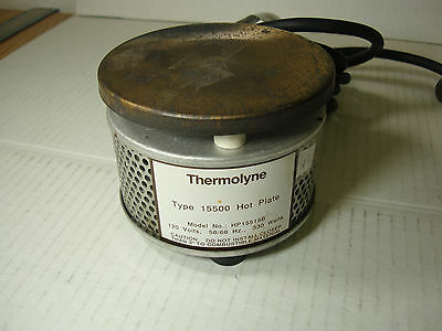 THERMOLYNE TYPE 15500 HOT PLATE MODEL HP15515B 120 VAC 50/60Hz 330 WATTS 7' CORD
