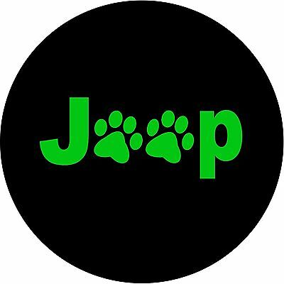 Jeep Paws GREEN Custom Spare Tire Cover Wheel Cover (all sizes available)