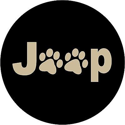 Jeep Paws Tan Custom Spare Tire Cover Wheel Cover (all sizes available)