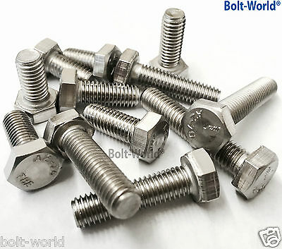 M2 / 2mm A2 STAINLESS STEEL HEX HEXAGON HEAD SET SCREW BOLTS FULLY THREADED