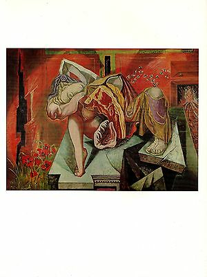 "1973 Vintage SURREALISM ""GRADIVA"" by ANDRE MASSON Color Art Print Lithograph"