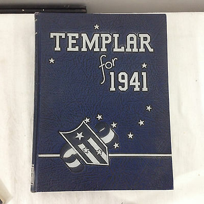 Temple University 1941 TEMPLAR Yearbook Philadelphia