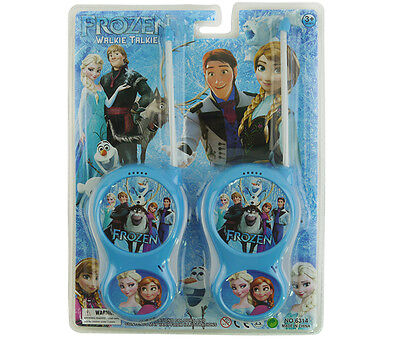 Frozen Elsa Anna Electronic Walkie Talkie Play Set Kid Children 2 Way Radio Toy