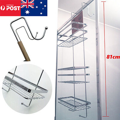 3 Tier Bathroom Accessories Shower Caddy hooks Rack Chrome Bath Shelf Storage