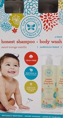The Honest Company Shampoo and Body Wash (2-17 oz) 34 ounces total