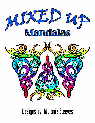 Adult Colouring (Coloring) Book - Mixed Up Mandalas - PDF File Download