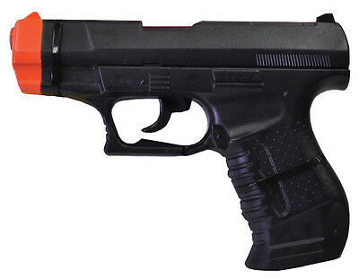 Black Double Agent Secret Spy Plastic Toy Gun,  One-Size