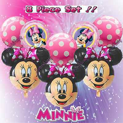 Pink Bowtie Minnie Mouse Balloon balloons girl baby shower party favors Mickey