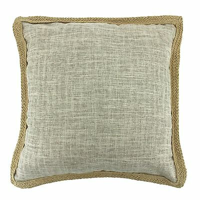 CORA SAND BEIGE BED SOFA DECOR THROW POLY JUTE CUSHION 50x50cm **FREE DELIVERY**
