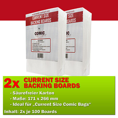 COMIC CONCEPT 200x Current Size Backer Boards (171 x 266 mm) Hüllen-Verstärkung
