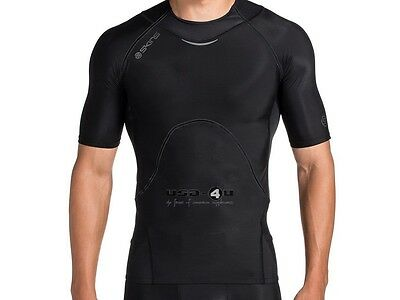 Skins A400 Mens Top Short Sleeve, Kurzarm Kompression