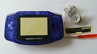 Es- Phonecaseonline Carcasa Gameboy Advance Azul Transparente Nueva