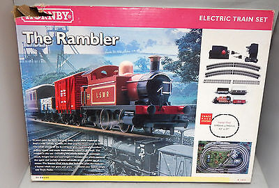 Hornby OO Gauge - R1035 The Rambler Loco & Coach/Van/Wagon (other parts missing)