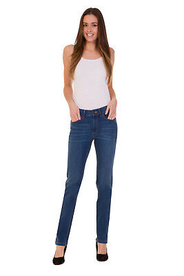 Ex M&S Collection Denim Jeans Women Straight Leg Stretch Size 6-32 Trouser Pants
