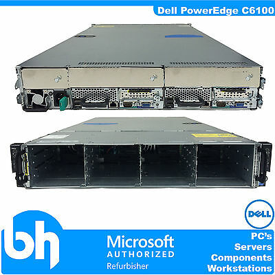 Dell PowerEdge C6100 Cloud Node Server 2U Xeon Quad Core E5620 2.4Ghz 48GB RAM