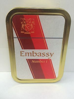 Embassy Number 1 Retro Advertising Brand Cigarette Tobacco Storage 2oz Tin