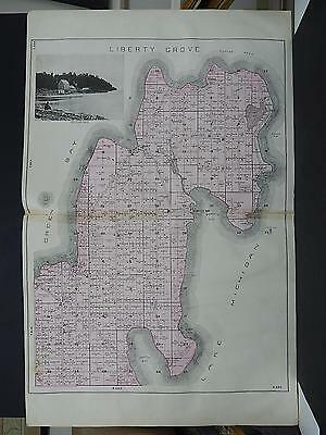 Wisconsin, Door County, Double Page, 1899 Liberty Grove Township Map Q8#70