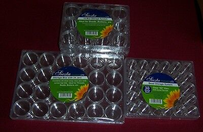 Bead Box Storage System 12, 24 or 30 individual Jars with Screw Top Lids