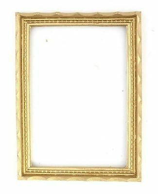 Dollhouse Miniature Gold Scalloped Picture Frame for 1:12 Scale Doll House