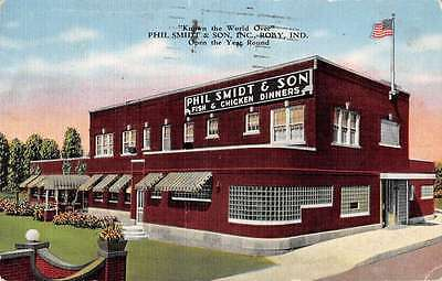 Roby Indiana birds eye view Phil Smith and Son Inc antique pc Y13374